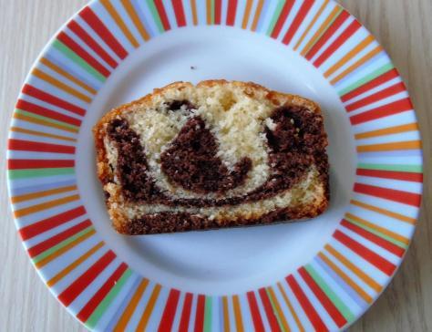 Marbré vanille et cacao moelleux