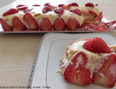 Tiramisù aux fraises