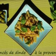Eminces de dinde a la provencale et tortellini basilic