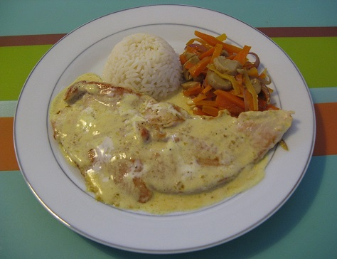 Escalopes de dinde au curry