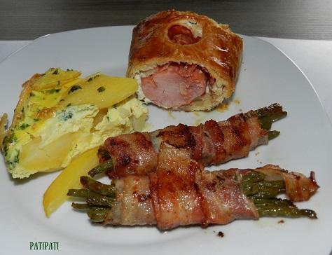 Filet pur porc ardennais en croute avec ses accompagnements