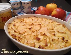 Flan au yaourt pommes et miel