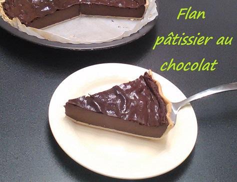 Flan patissier au chocolat