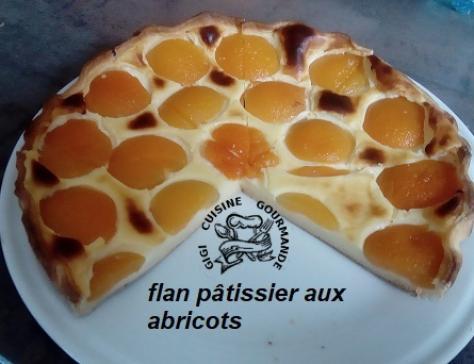 Flan patissier aux abricots au thermomix