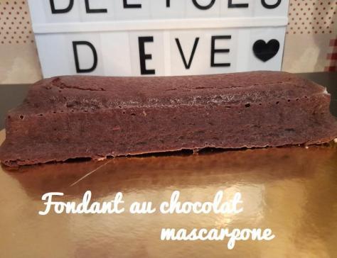 Fondant au chocolat mascarpone