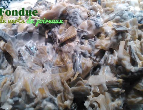 Fondue de verts de poireaux