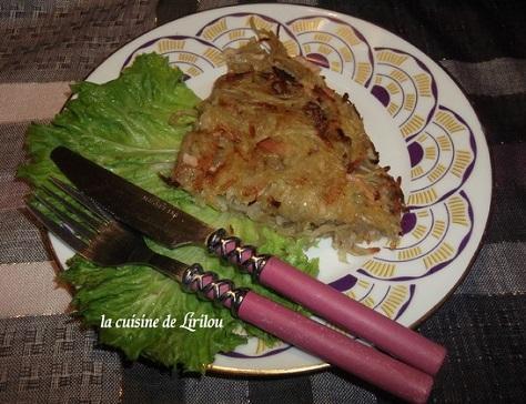 Galette croustillante de pommes de terre et de celeri au saint albray