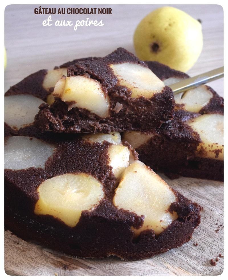 Gateau au chocolat et aux poires