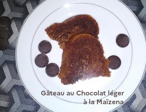 Gateau au chocolat leger a la maizena