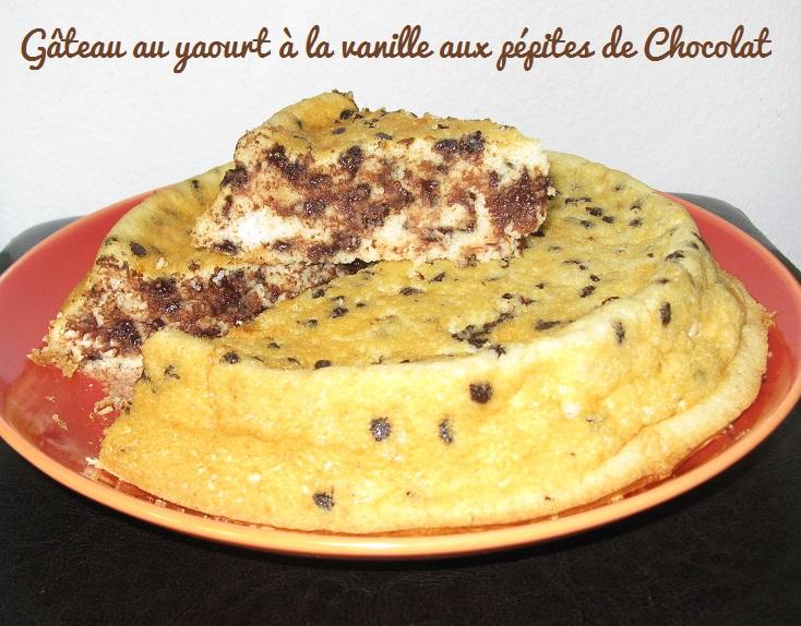 Gateau au yaourt a la vanille aux pepites de chocolat 2