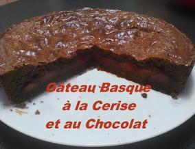 Gateau basque a la cerise au chocolat