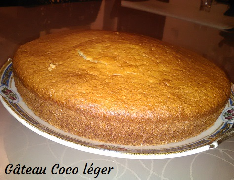 Gateau coco leger
