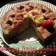 Gateau fraises kiwi