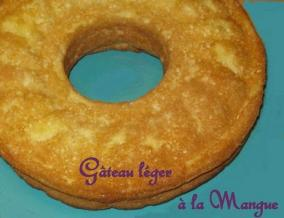Gateau leger a la mangue