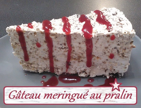 Gateau meringue au pralin