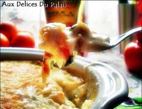 Gratin de colin et crevettes a la sauce bechamel