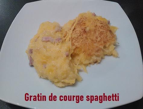 Gratin de courge spaghetti