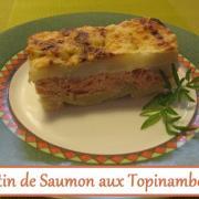 Gratin de saumon aux topinambours