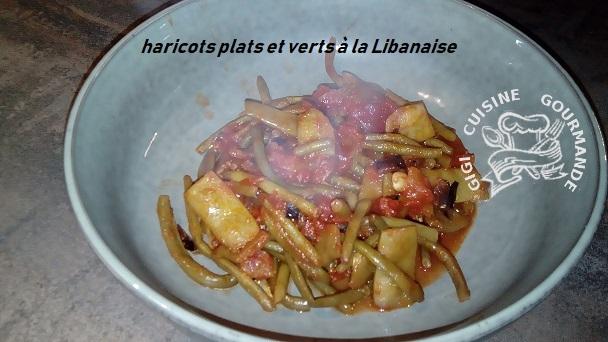 Haricots plats et verts a la libanaise au cookeo