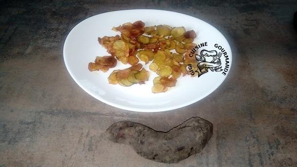 Chips de Yacon (ou poires de terre)