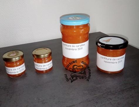 CONFITURE DE CAROTTES