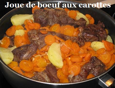 Joue de boeuf aux carottes