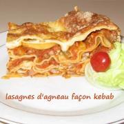 Lasagnes a l agneau et aux 3 poivrons facon kebab