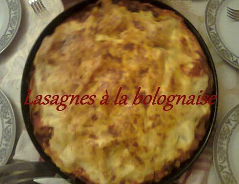 Lasagnes a la bolognaise