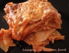 Lasagnes au saumon fume