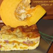 Lasagnes automnales aux chataignes potiron canard