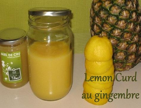 Lemon curd au gingembre