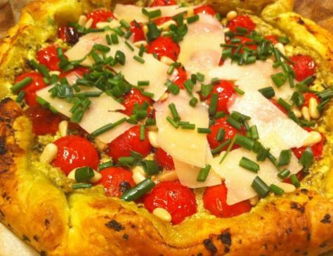 Ma tarte aux tomates cerises fromage de chevre et pesto un regal 3