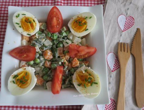 Macedoine de legumes maison et ufs durs