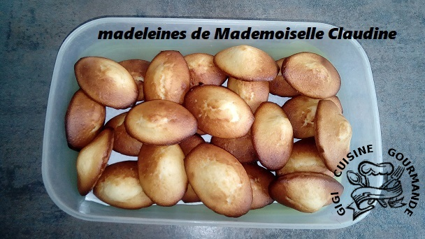 Madeleines de mademoiselle claudine au thermomix
