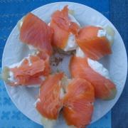 Meli melo de saumon fume
