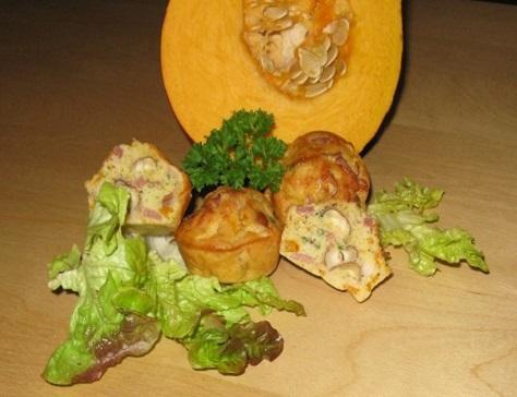 Mini cakes sales potiron noisettes et lardons