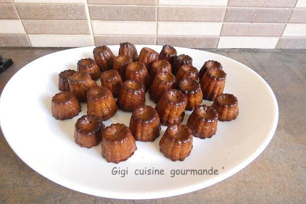 Mini canneles au chocolat
