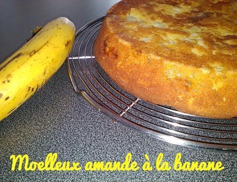 Moelleux amande a la banane
