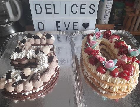 Mon gateau d anniversaire le number cake facon fraisier 2