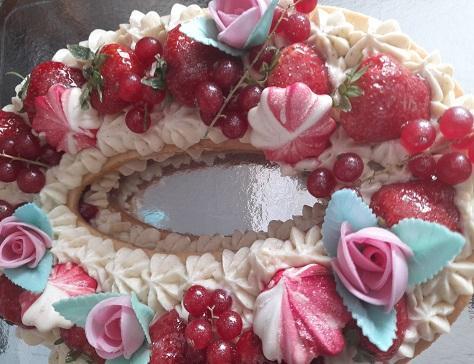 Mon gateau d anniversaire le number cake facon fraisier