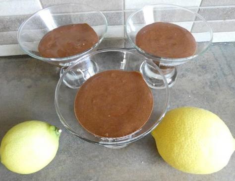 Mousse au chocolat et sa gelee de citron