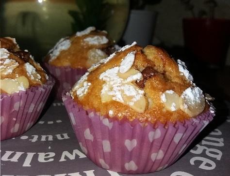 Muffins vanille chocolat praline