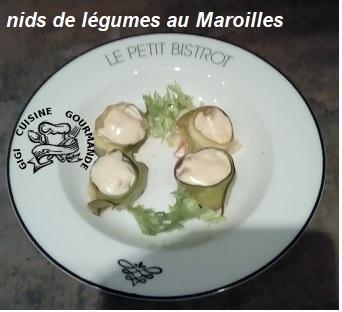 Nids de legumes au maroilles