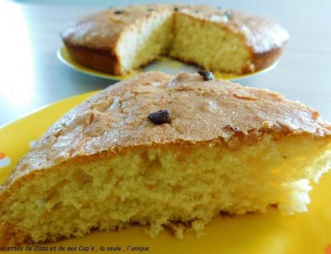 Gâteau au yaourt à la fleur d'oranger