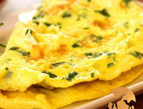 Omelette au lait de chamelle