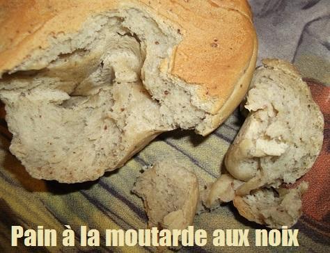 Pain a la moutarde aux noix