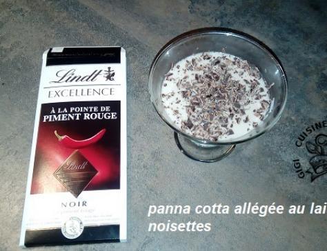 Panna cotta allegee au lait de noisettes