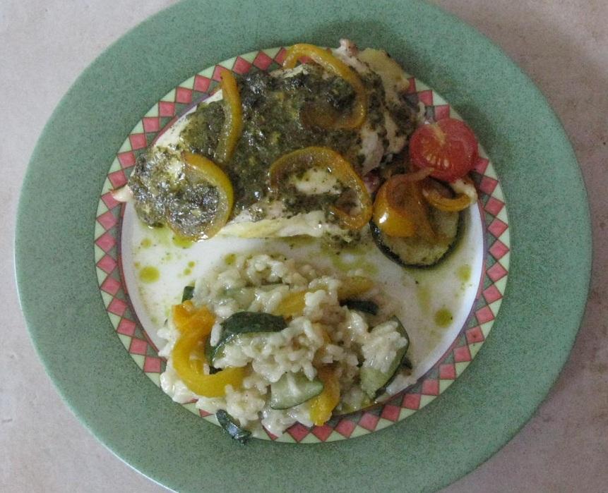 Papillote de poulet aux legumes du soleil 2