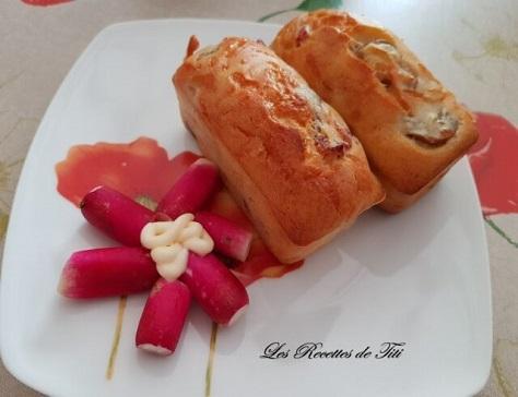 Petits cakes lardons champignons
