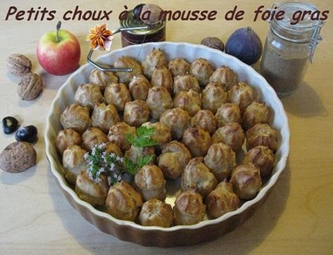 Petits choux a la mousse de foie gras